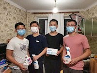 我校向在乌留学师生发放防疫物资